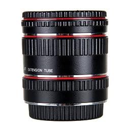 Neewer 13-21-31mm Metal Auto Focus TTL Macro Extension Tube Set, Extreme Close-Ups for Canon EOS DSLR SLR Camera Lens, fits Canon EOS 1d,1ds,Mark II, III, IV, 5D,Mark II, 7D, 10D, 20D, 30D, 40D, 50D, 60D, Digital Rebel XT XTi Xsi T1i T2i T3i T4i T5i T3 /