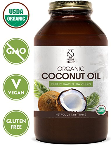 Coconut Oil Organic Raw Extra Virgin 24oz, by Present Health - Bottled From Fresh Coconuts And Free Of Toxic Chemicals - Makes Cooking Healthy Simple And Delicious - Great For Skin And Hair! (Make It Fresh Make It Delicious compare prices)