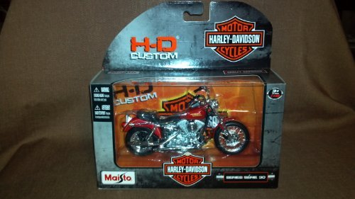 1997 Harley Davidson FXDL Dyna Low Rider 1:18 Scale Red Series 30 - 1
