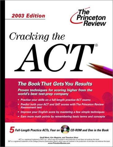 Cracking the ACT with Sample Tests on CD-ROM, 2003 Edition (College Test Prep) NO CD Included Sorry, Princeton Review