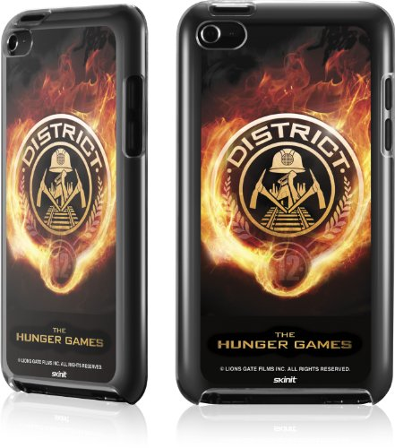 Skinit The Hunger Games -District 12 Logo on Fire for LeNu Case for Apple iPod Touch (4th Gen)