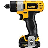 "Dewalt DCF610S2 12V MAX Cordless Lithium-Ion 1/4"" Hex Chuck Screwdriver Kit"