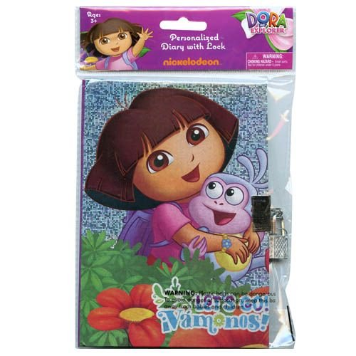 Dora the Explorer By Nickelodeon Sparkle Personalized Diary, Notebook W/lock