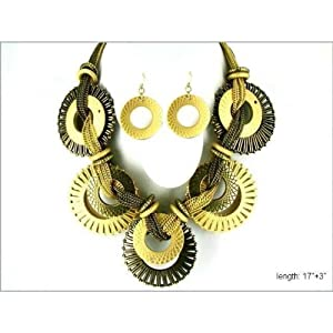 Chunky Necklace Set on Chain Fashion Jewelry