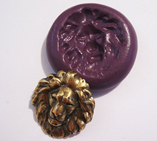 lion-head-flexible-food-grade-silicone-push-mold-for-polymer-clay-resinwaxminiature-foodsweetsplaste