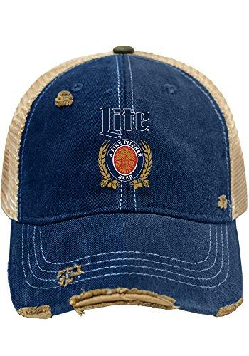 Miller Lite Brewing Company Retro Brand Vintage Mesh Beer Adjustable Hat Cap (Beer Company Hat compare prices)