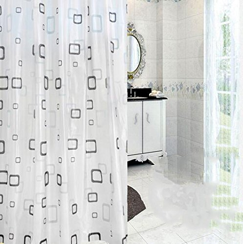 gwell-top-quality-peva-cube-waterproof-shower-curtain-anti-mold-incl-12-shower-curtain-rings-bathroo