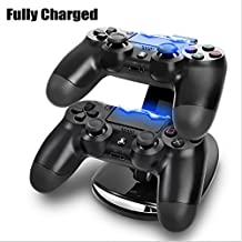 Generic , Black : DUAL USB Charging LED Remote Controller Chargers Stand + Dust Proof Prevent DIY Cover For PS4 Gaming Console PS4 Accessories