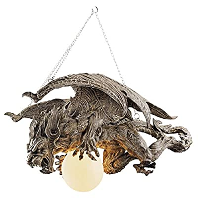 Design Toscano Nightfall Sculptural Gargoyle Chandelier