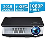 Home Theater Projector,HDEYE Native 1080p Full HD LED Video Projector - Up to 165 Inch Size Big Screen,3000 Lumens,Compatible with Fire TV Roku Sticks,USB,DVD,SD,PS4,Laptop (Black) (Black) (Color: Black)