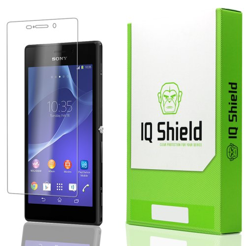 Iq Shield Liquidskin - Sony Xperia M2 Screen Protector With Lifetime Replacement Warranty - High Definition (Hd) Ultra Clear Phone Smart Film - Premium Protective Screen Guard - Extremely Smooth / Self-Healing / Bubble-Free Shield - Kit Comes In Frustrati