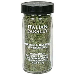 Morton & Bassett Italian Parsley, .4-Ounce Jars (Pack of 3)