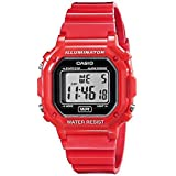 Casio Unisex F-108WHC-4ACF Classic Red Resin Band Watch (Color: Red)