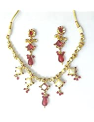 RCJ Gold Brass Necklace Set For Women - B00XN8454I