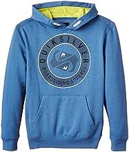 Quiksilver Finish Liney Sweat-shirt à capuche Garçon Federal Blue FR : 12 ans (Taille Fabricant : M/12)