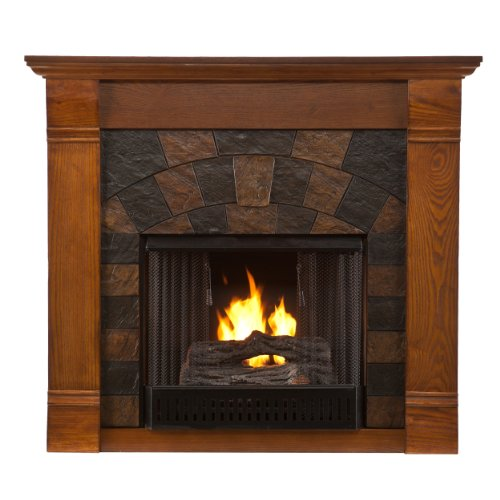 Sei Elkmont Salem Gel Fuel Fireplace, Antique Oak