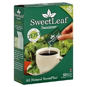 SweetLeaf Stevia Plus Natural Sweetener Crystal Packets, 50 count