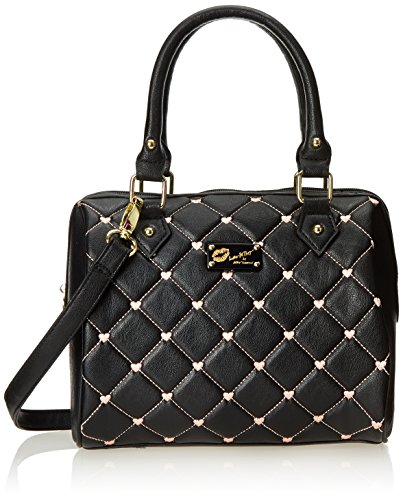 Luv Betsey by Betsey Johnson Touch My Heart Mini Satchel Handbag Top Handle Bag, Black, One Size