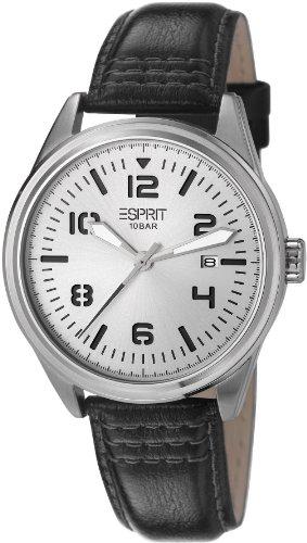 Esprit  Chester - Reloj de cuarzo para hombre, con correa de cuero, color negro