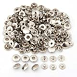 50 Set Metal No Sewing Press Studs Buttons Snap Fastener Popper 10mm