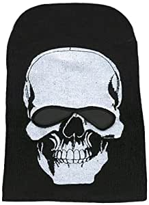 Hot Leathers Skull with Cut Out Eyes Knit Cap (Black)