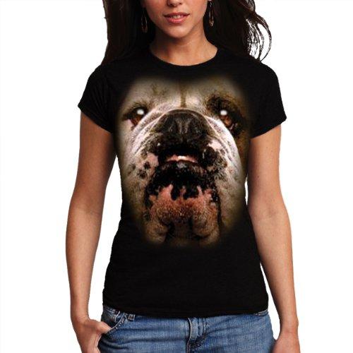 Wellcoda | Bulldog British Pet Womens NEW English Dog Black T-shirt XS-2XL think british english 1 cl aud cds 3