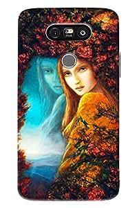 Blue Throat Girl Painting Hard Plastic Printed Back Cover/Case For LG G5