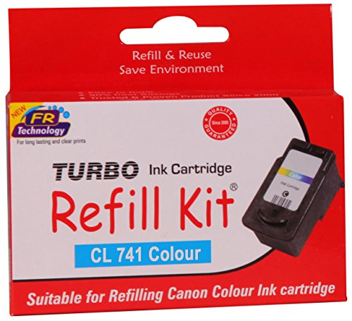 Turbo Refill Kit for Canon CL 741 Colour Ink Cartridge  available at amazon for Rs.483