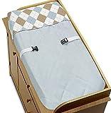Marrón y Azul Argyle pañal cambio Pad Cover Por Sweet Jojo Designs