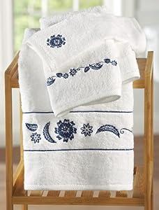 westbrook navy blue bathroom towel set bath rugs. Black Bedroom Furniture Sets. Home Design Ideas