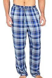Men\'s Woven Plaid Pajama Pants - Hypnos (Blue/Gray, Large) Men\'s PJ Bottoms Warm as Flannel MB0201-1UG-L