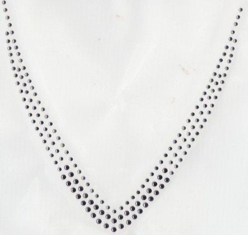 Sue's Sparklers - Amethyst and AB Crystal V Neckline Rhinestone Transfer