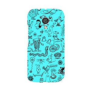 Skintice Designer Back Cover with direct 3D sublimation printing for Moto G 2nd Gen.