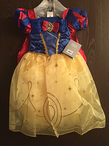 Authentic Disney Snow White Girls Princess Deluxe Dress Up Costume Size 3