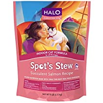 Halo Spot's Stew Holistic Dry Cat Food, Salmon, 6 LB Bag of Indoor Cat Food and Kitten Food