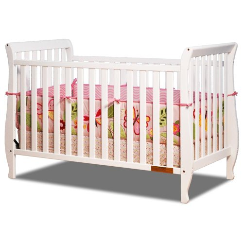 Baby Mile Hannah 4-In-1 Convertible Crib - White front-794655