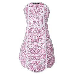 Gloveables Scalloped Oilcloth Full Apron in Pink Lace Great for Crafts