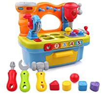 Little Engineer Multifunctional Kids Musical Learning Tool Workbench by Liberty Imports