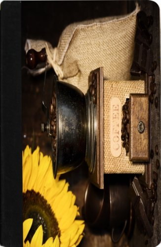 Rikki Knighttm Still Life With Antique Coffee Grinder And Sunflower Design Kindle® Firetm Notebook Case Black Faux Leather (Not For Kindle Fire Hd)