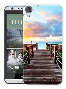 "Humor Gang Sea Corner Scenery Calm Printed Designer Mobile Back Cover For ""HTC DESIRE 820"" (3D, Matte, Premium Quality Snap On Case)"