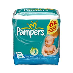 Pampers Baby Fresh Refill Pack 6x64 384 Wipes