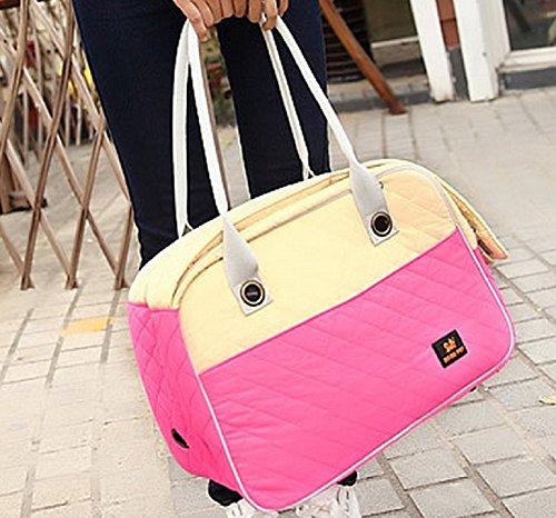 WT Pet Carrier Cat/Dog travel Tote Bag [Pink] Portable Hand bag