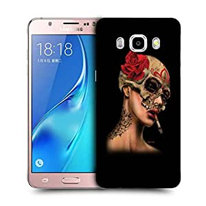 Snoogg Girl Smoking Designer Protective Back Case Cover For SAMSUNG GALAXY J5 2016 J510X