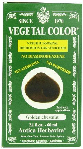 Herbatint Vegetal Hair Color, Golden Chestnut, 2.1 Fluid Ounce (Vegetal Hair Dye compare prices)