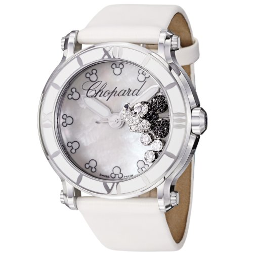 Chopard Happy Sport Round Ladies Mickey Mouse Diamond Watch 288524-3004