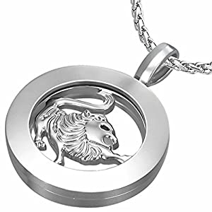 Fashion Alloy Leo Zodiac Sign Inner-roller Circle Pendant