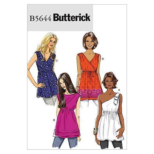 Butterick Patterns B5644 Misses' Top, Size Y (XSM-SML-MED)