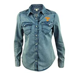 Tennessee Volunteers Ladies Cutter and Buck Long Sleeve Wild Card Denim Shirt by Cutter & Buck