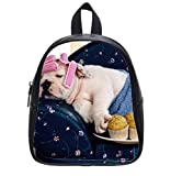 Luxry sleeping dog Custom Kids School Bag Backpack (Small) Intimate Design