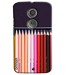 Omnam Coloful Pencil Shades Printed Designer Back Cover Case For Moto X2